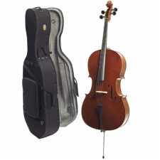 1/2 Size Stentor Conservatoire Cello Outfit With Bow & Case #1586E
