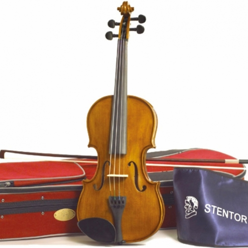 3/4 Size Stentor Student 2 Violin With Bow, Case & Rosin #1500C, Secondhand
