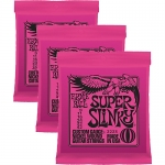 3 Sets of Ernie Ball 2223 Super Slinky Electric Guitar Strings 9-42