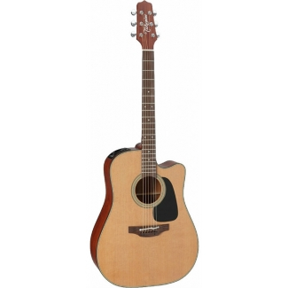 Takamine P1DC Electro Acoustic Dreadnought Guitar In Natural With Case