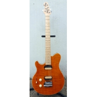 Music Man (USA Made) Axis Super Sport in Trans Flame Gold, Lefthanded