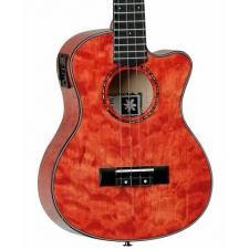 Tanglewood TWT26E Tenor Uke, Tuscan Sunset Red Gloss