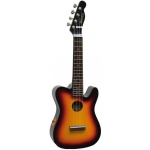 Mahalo UTL1E Tele-Shaped Ukulele in Vintage Sunburst