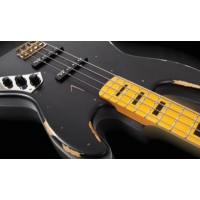 Vintage Icon VJ74 MRBK Bass, Black