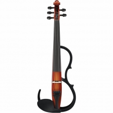 Yamaha SV255 5-String Silent Violin In Brown With Pro Pick-Up