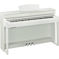Yamaha CLP535 in White Satin With Free Headphones & Yamaha Stool