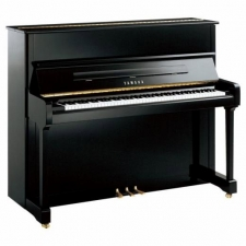 Yamaha P121 Upright Piano in Black or White with Brass or Chrome Fittings