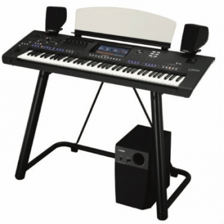 Yamaha Genos Keyboard with Genos GNS-MS01 Speakers & L7B Stand