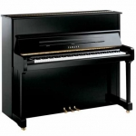 Yamaha P121 Upright Piano in Polished Ebony
