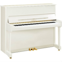 Yamaha P121 Upright Piano in Polished White