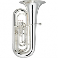Yamaha YBB632S BBb Tuba, Silver Plated With Case & Mouthpiece