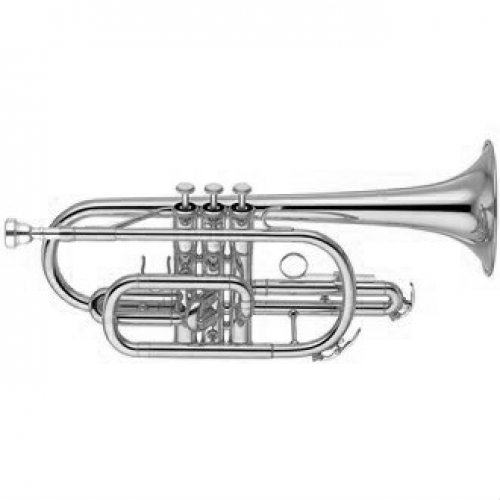 Yamaha Marching Cornet YCR2310S-III Bb Cornet in Silver Plate With Case & Mouthpiece
