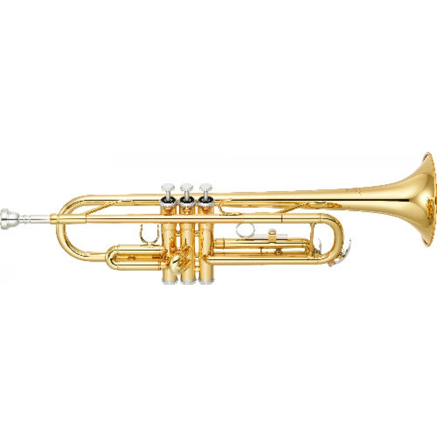 yamaha ytr3335 bb trumpet with case mouthpiece at
