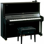 Yamaha YUS3 SH Silent Upright Piano in Polished Ebony